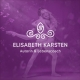 Logo von Elisabeth Karsten auf violettem Hintergrund; im Hintergrund ein Tanzpaar